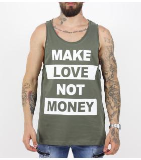 Αμάνικο ανδρικό Tshirt make love PV17131