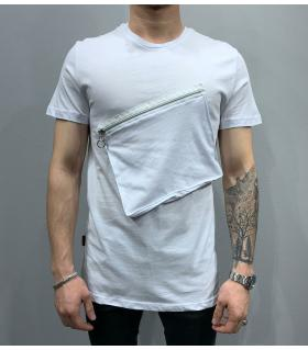 T-shirt ανδρικό zip and pocket PV25141
