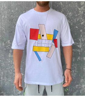 T-shirt ανδρικό oversized -Geometrical- R21031