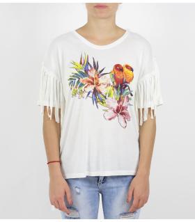 Tshirt παπαγάλοι με κρόσσια SC36000284