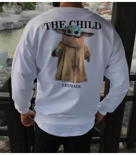 Μπλούζα φούτερ λεπτή -The Chlid- SN7813
