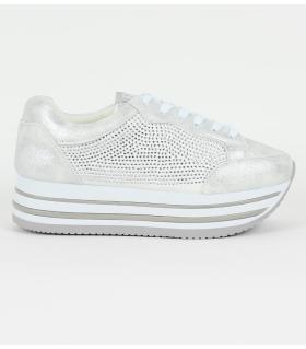 Δίπατα slip-on sneakers με στρας & κορδόνι Xti X41503